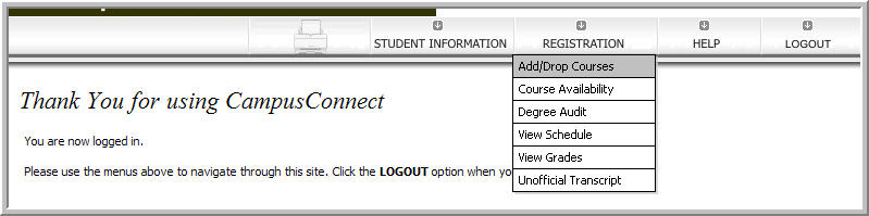 Campus Connect Register Online