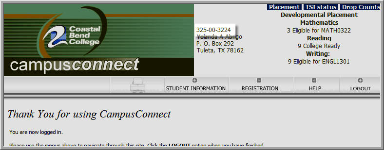 Campus Connect Student ID