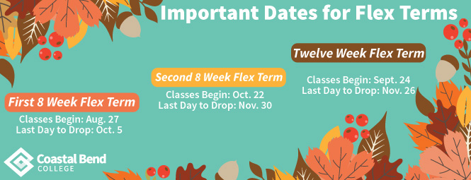Important Dates for Fall Flex 2018